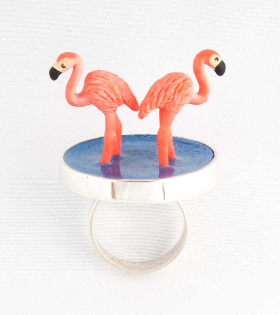 Flamingos ring | Sieraad - Belinda Brama