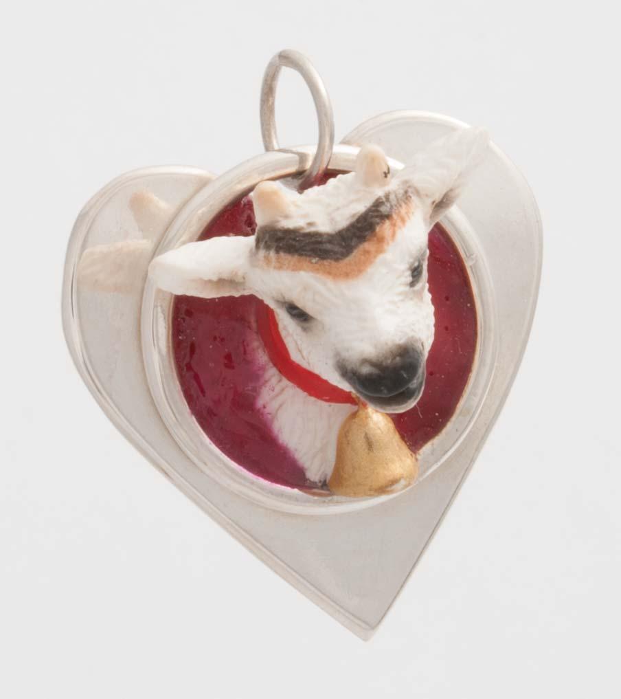 Geit in hartvorm hanger | Sieraad - Belinda Brama