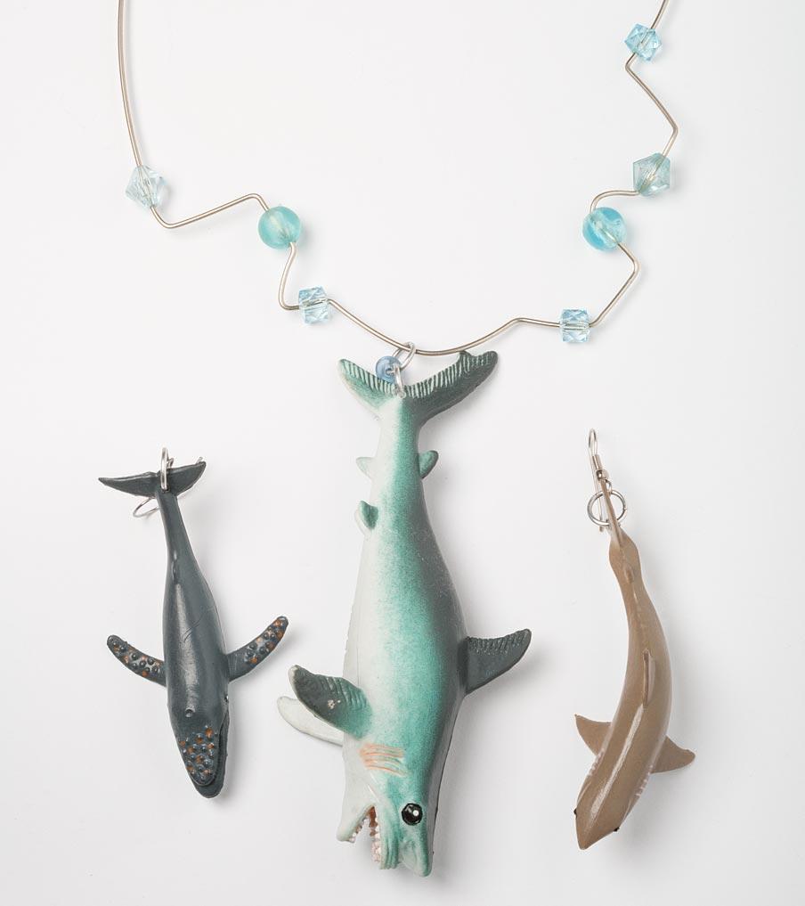 Haaien ketting en oorbellen | Sieraad - Belinda Brama