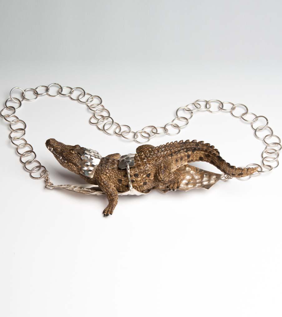 Krokodil hanger met ketting | Sieraad - Belinda Brama
