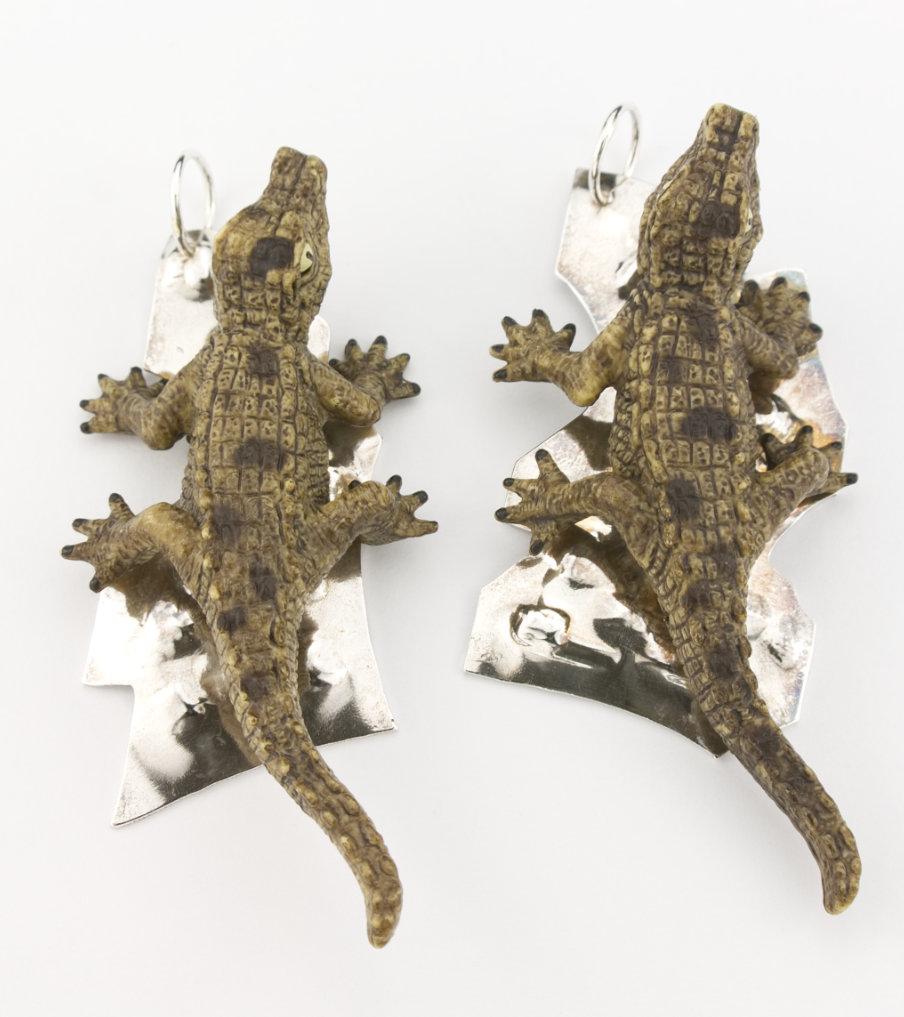 Krokodillen 2 hangers - hanger | Sieraad - Belinda Brama