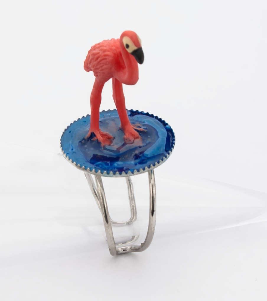 Lonely flamingo - ring | Sieraad - Belinda Brama