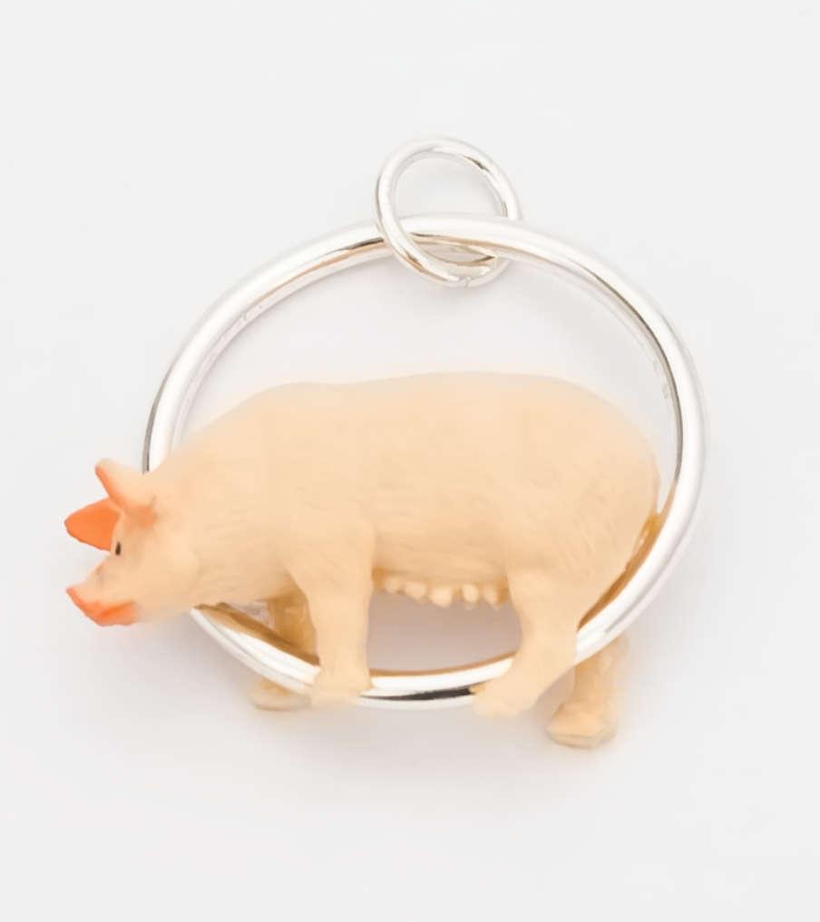 Piggy - zilver - hanger | Sieraad - Belinda Brama