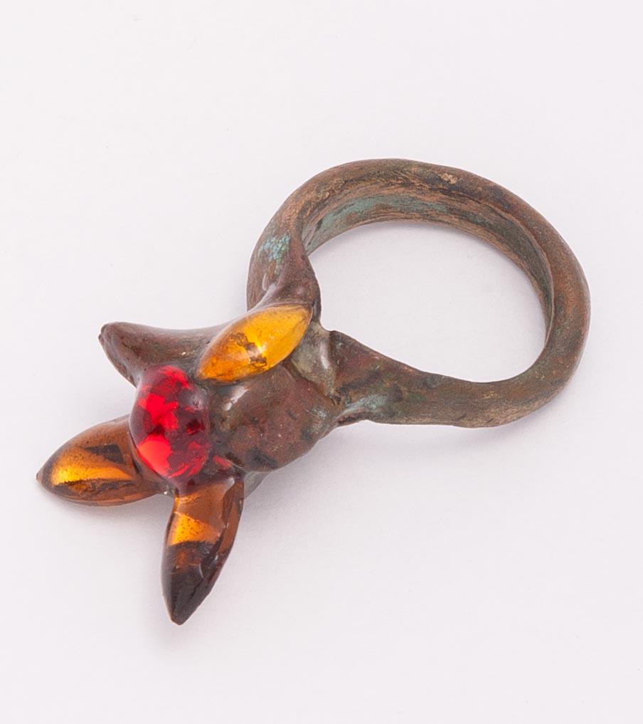 Brons met gekleurde stenen ring | Sieraad - Belinda Brama