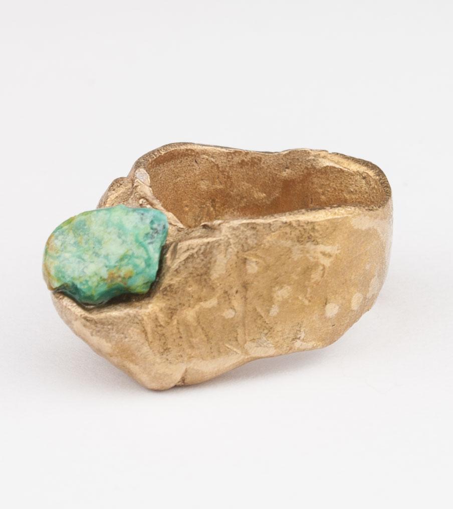 Groene steen - brons - ring | Sieraad - Belinda Brama