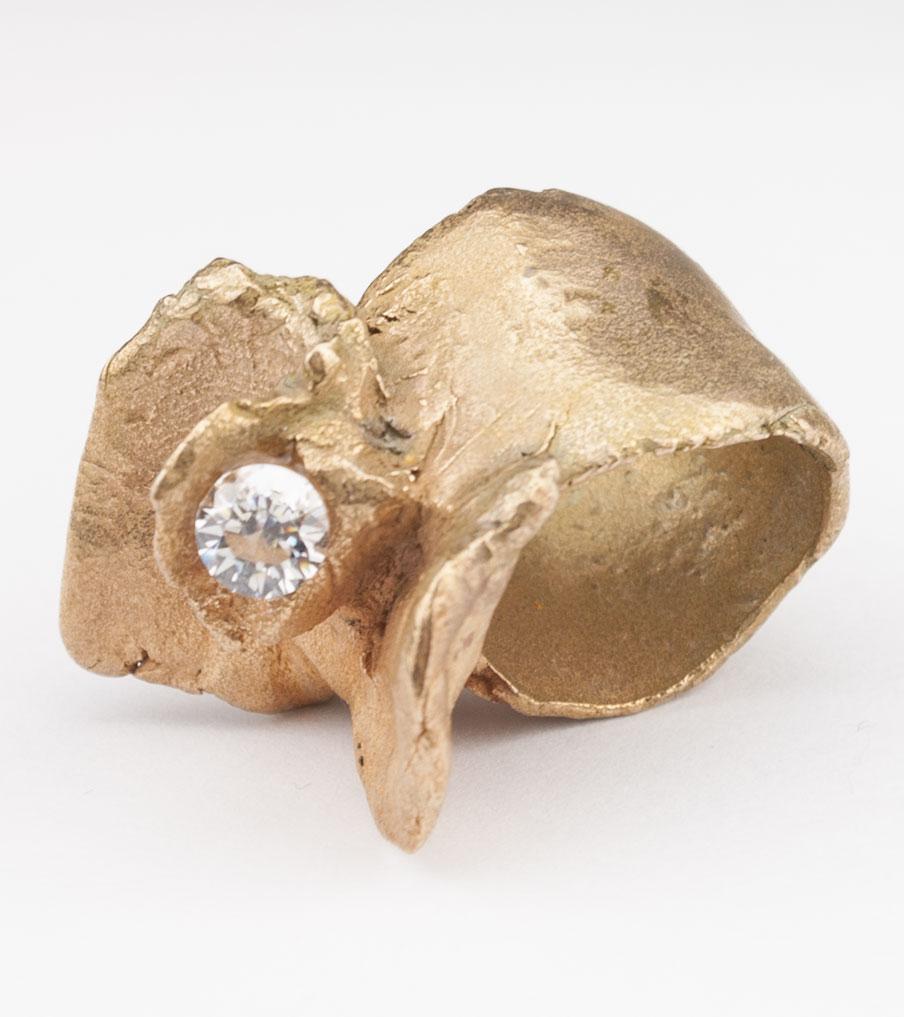 Bronze kristal - brons - ring | Sieraad - Belinda Brama