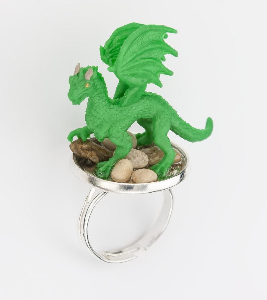 Green dragon - ring - Belinda Brama