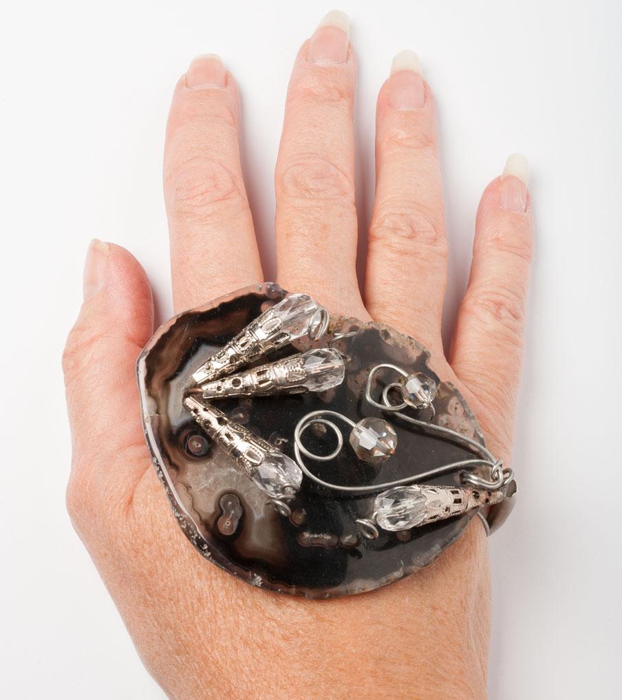 Handsierraad wirewrapped | Sieraad - Belinda Brama
