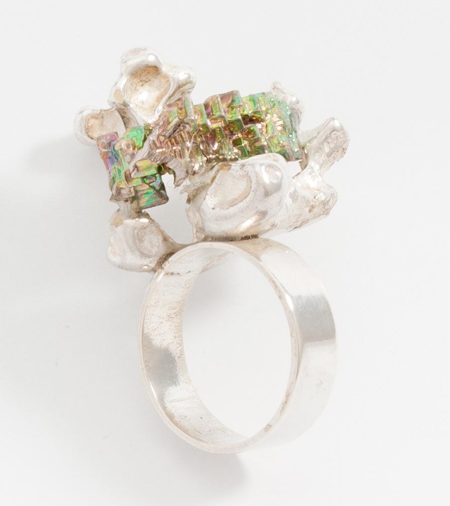 Bismuth ring zilver | Sieraad - Belinda Brama