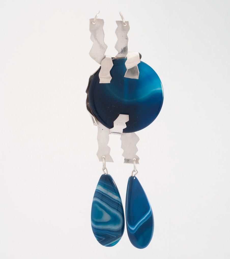 Blauwe steen hanger zilver | Sieraad - Belinda Brama