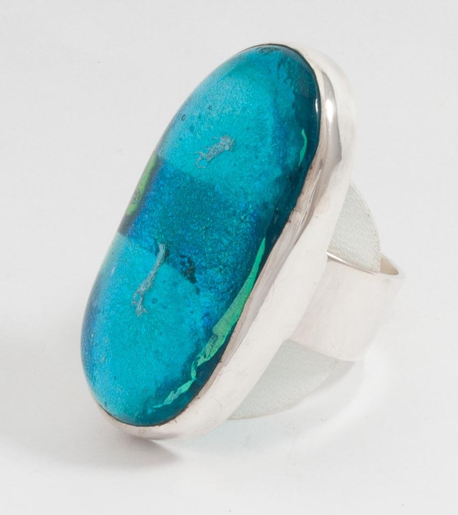 Ring zilver fusing glas | Sieraad - Belinda Brama