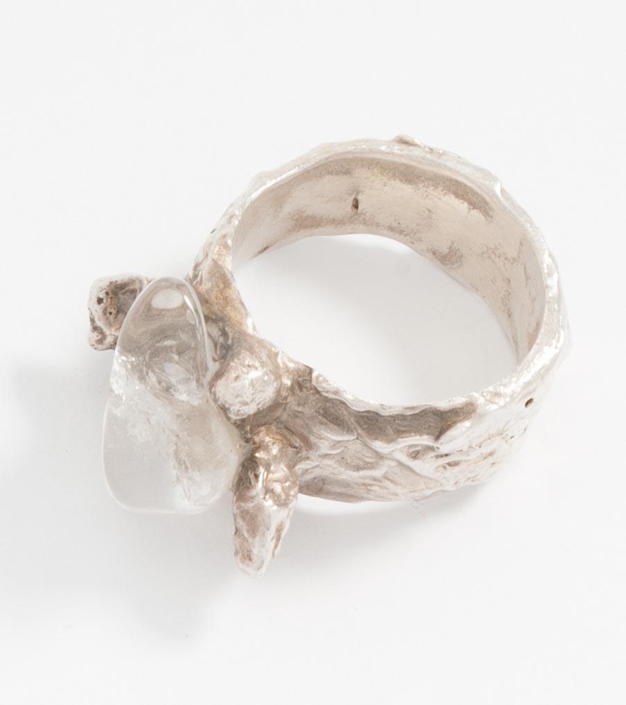 Ring zilverklei en glas | Sieraad - Belinda Brama
