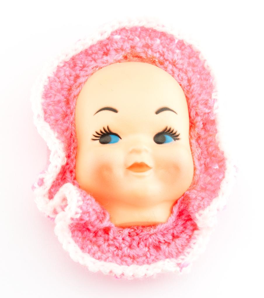 Happy baby roze - broche   Sieraad - Belinda Brama