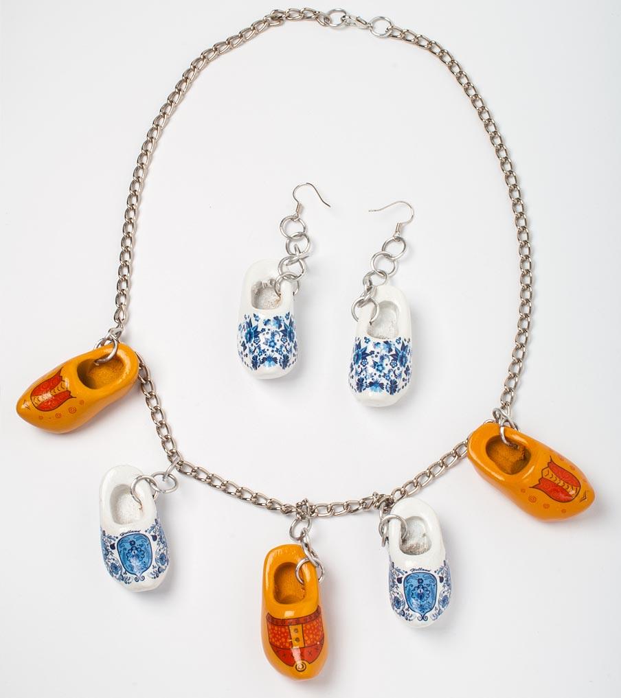 Klompen ketting en oorbellen | Sieraad - Belinda Brama