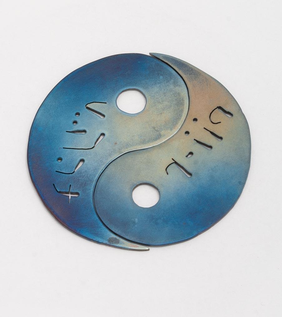 Yin yang ketting titanium | Sieraad - Belinda Brama