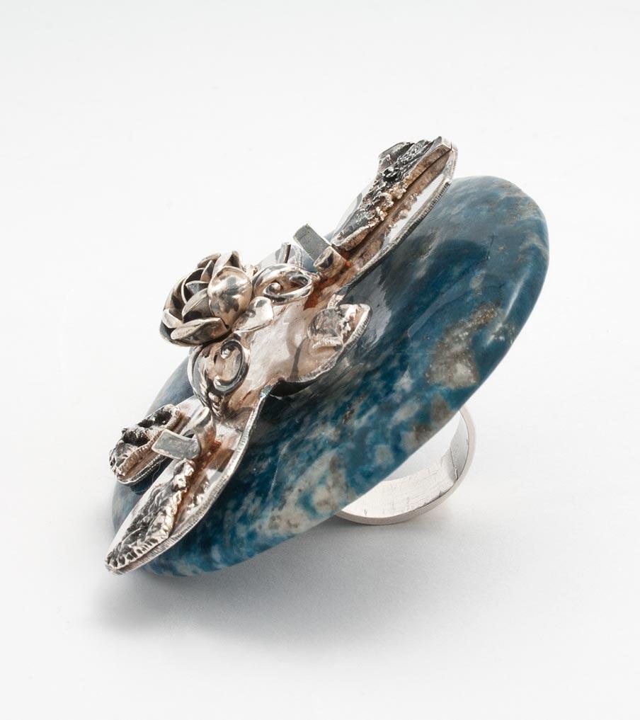 Verwisselbare ring blauw | Sieraad - Belinda Brama