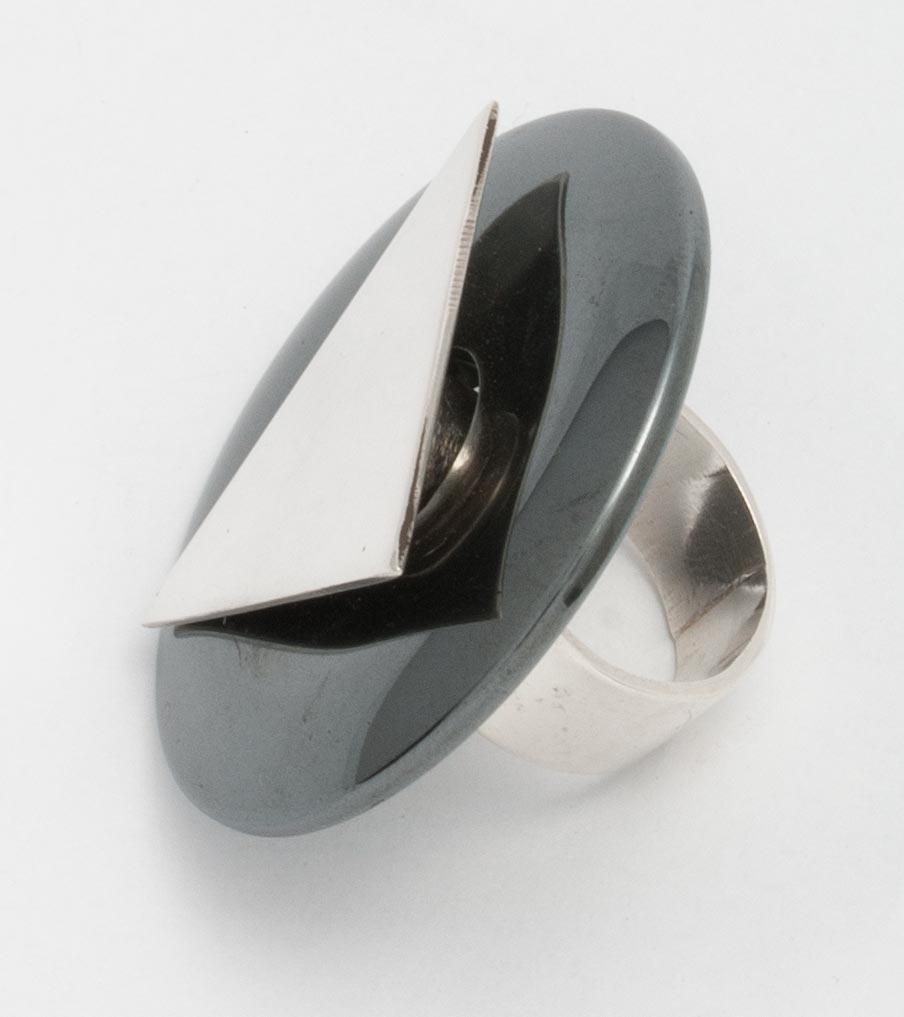 Verwisselbare ring hematiet | Sieraad - Belinda Brama